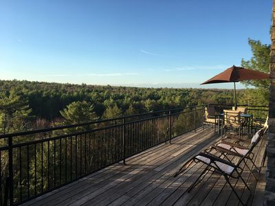 View from the wrap around deck.Total privacy for sun bathing or star watching.