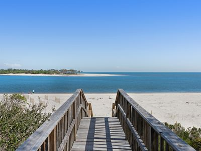Photo for Dog-friendly beachfront home with boardwalk, screened-in porch