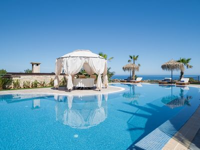 Photo for New villa, 1 km from the beach,  close to Hersonisos & nightlife, 90 m2  pool!