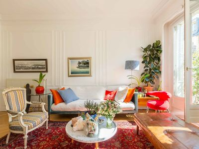 Photo for 3BR with balcony by the Folies Bergère, short walk from Louvre Museum, by Veeve