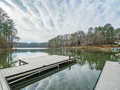 Photo for 80 miles to Augusta National Golf Club. Newer home on the lake with private dock