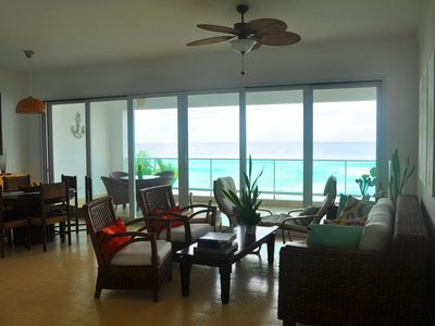 Photo for Luxury 3BD condo right on a sandy beach, with amazing sea views!