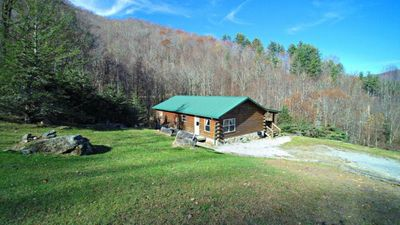 Photo for YOUR SEARCH IS OVER!  PRIVATE, PEACEFUL ELEVATION WITH A CREEK, WATERFALL, VIEWS