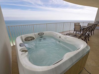 Photo for Rates Dropped ~ Lazy River ~ Private Hot Tub & Grilll on Balcony ~ Sleeps up to 10 ~ Turquoise 2504C
