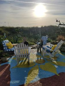 Photo for FUN AND FUNKY BEACH FRONT HOUSE  3 BLOCKS FROM RESTAURANTS, BOARDS AND GRILL