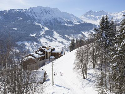 Photo for Back Gd Dom Valmorel skier parking and views of the peaks