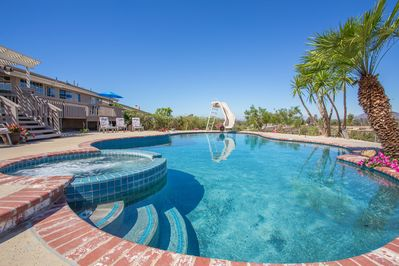 Inviting Pool and Spa are the Center-Piece to this Gorgeous Yard