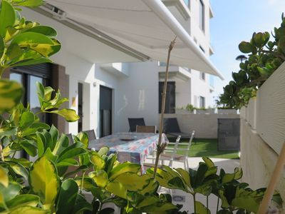 Photo for Apartment in first line of the beach with terrace of 50 meters.