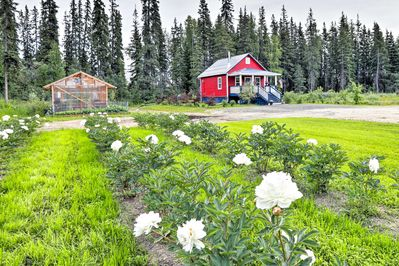 There's even a flower garden that adds to the picturesque scene.