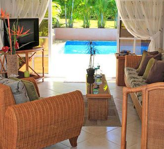 Photo for 2BD guest-friendly villa with private pool, high-speed internet, near everything