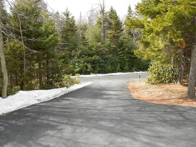Driveway, view from front of home