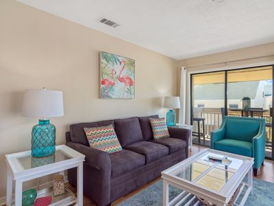 Photo for Coastal Chic and Beautiful Walk to the Beach! Sandpiper Cove 3215. Free Fun Activities!