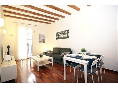 Photo for Sant Pau II apartment in Eixample Dreta with WiFi, air conditioning & balcony.
