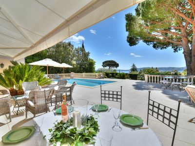 Photo for LUXURY VILLA WITH OUTSTANDING VIEW ON THE GULF OF ST TROPEZ