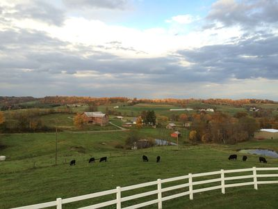 Photo for Breathtaking view, 2 kitchens, nature trails, working farm