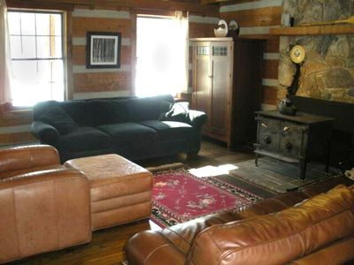 Elegant comfort with a rustic cabin feel.