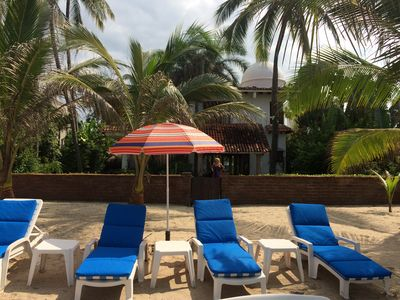 Private VILLA & BEACH AREA. Great VIEWS from PATIOS. POOL on other side of Villa