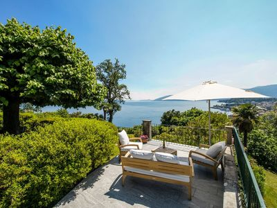 Photo for Il Motto villa with big garden and amazing lake view