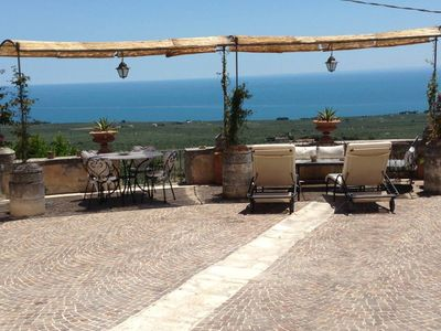 Photo for ROMANTIC VILLA MANGANARO  GARGANO,PUGLIA, ANCI ENT(1800)GREAT VIEW OF THE SEA  -APARTMENTS