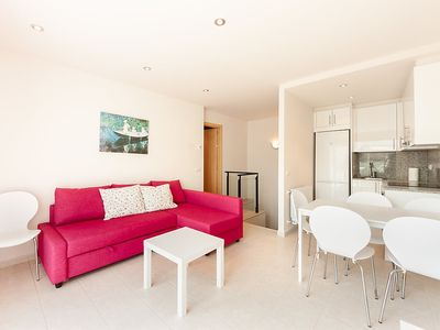 "Photo for Apartment a short walk away (488 m) from the ""Playa Porto Pí"" in Tossa de Mar with Parking, Washing machine, Terrace (140101)"