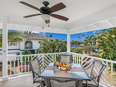 Photo for Ocean views, steps to Poipu's best beaches, A/C in living area and bedrooms!