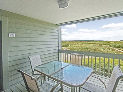 Photo for Beachy ground floor villa with ocean and inlet views - private dock access!