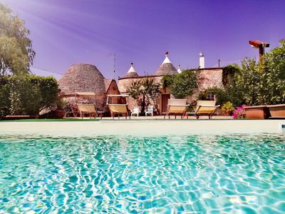 Photo for Trulli in Valle d'Itria - entire villa - private pool - up to 8 people