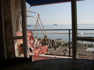 Photo for Superb 2 room with magnificent sea view in a small fishing village and sandy beach