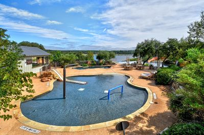 Pool - The Reserve at Lake Travis is lakefront, with a marina, lazy river pool, and tennis courts!