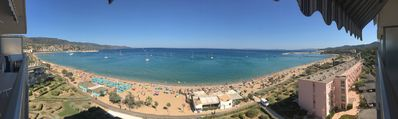 Photo for Magnificent Apartment T3 Exceptional sea view 180 degrees, beach 20 meters