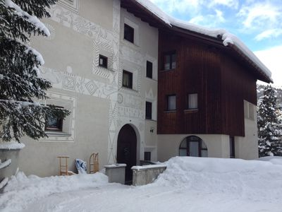 Photo for Apartment comfortable for 7-8 persons, in a traditional Engadine style house