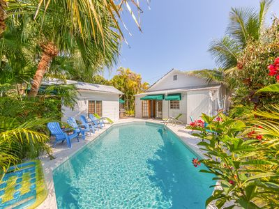Photo for Tropical family-friendly home w/private pool, 1/2 block from Duval St. - dogs ok