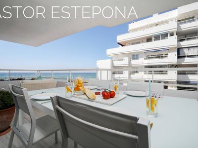 Photo for Astor Estepona: Lux 2BD Frontline Marina, Pool, WiFi, Sea views, Private parking