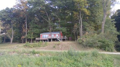 Photo for Riverfront Cabin With Small Beach Short Drive From Nauvoo