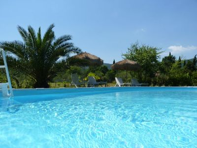 Photo for beautiful 200 year old stone house m. Pool, 15 minutes to the sea