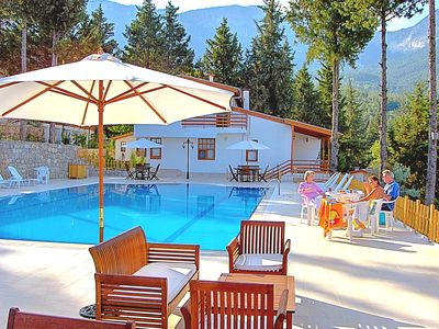 Photo for Turkish Holiday Home Villa with communal pool sea forest mountain view nr beachs