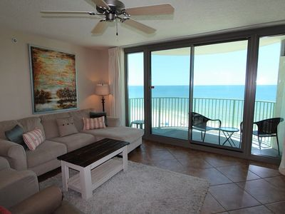 Photo for Perdido Towers West 906- Beach Front View from Terrace and Updated Interior!