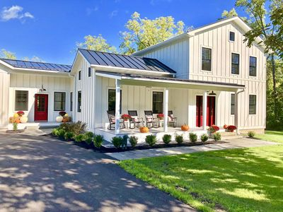 Fully renovated 1860s farmhouse with beautiful landscaped yard