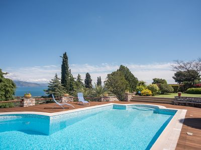Photo for Villa Primavera with pool and sea view / 7pax