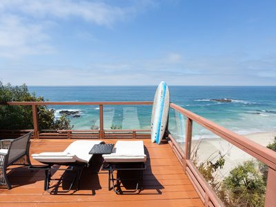 Photo for OCEAN FRONT BEACH HOUSE- Private Stairs from the house to the SAND!!!