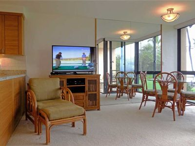 Photo for Ocean Front views from this comfortable one bedroom condo at Kihei Surfside #210