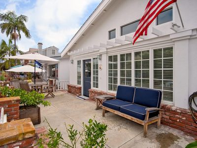 Photo for Quintessential Balboa 3-bedroom 2-bathroom front beach house centrally locate