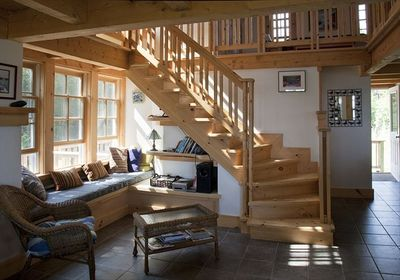 Living Room with Cozy Nook Brookside, Stairway and Loft  Area