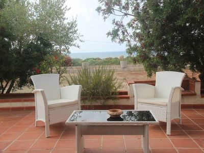 Photo for Villa with sea view, 350 m from the beach, large garden: sea lido, pesculuse, Leuca