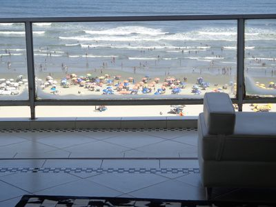 Photo for Luxury Ocean Front Apt w / air conditioning and 01 parking space