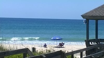 This is the view from the deck of the condo (I did zoom in a little bit).