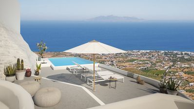 Photo for Bluewhite villa with heated infinity pool and jacuzzi