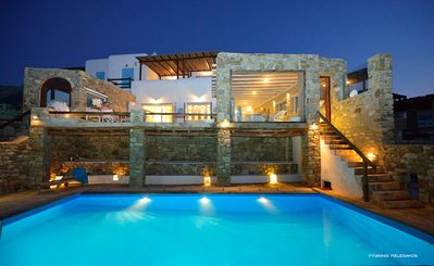 Photo for URBAN ENERGY. SKY HIGH DECADENCE. Diamond Of Mykonos Summer Villa 4br upto 10guests Private Pool
