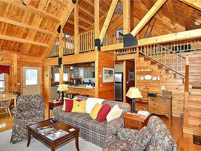 Photo for Log Cabin Escape!  Close to Ben and Jerry's, Zen Bar, Waterbury Res.10 min to Stowe Village