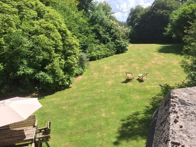 Part of the garden seen from the balcony